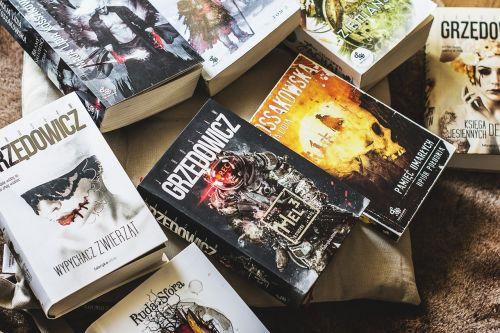 book stack books