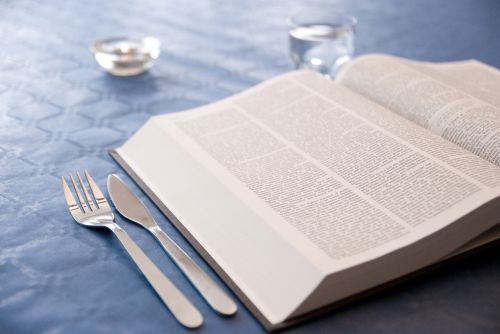 book cutlery dining