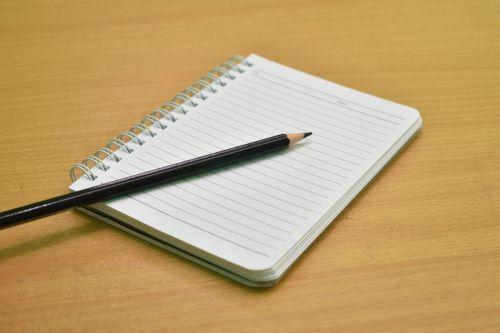 book paper pencil
