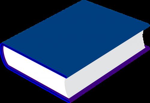 book blue closed
