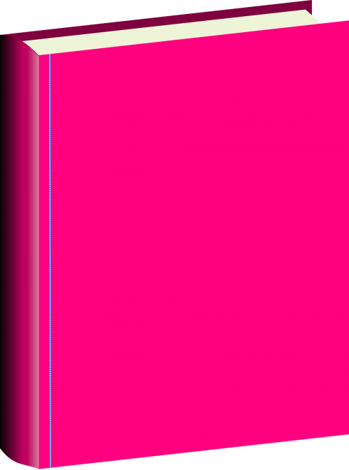 book hardcover pink