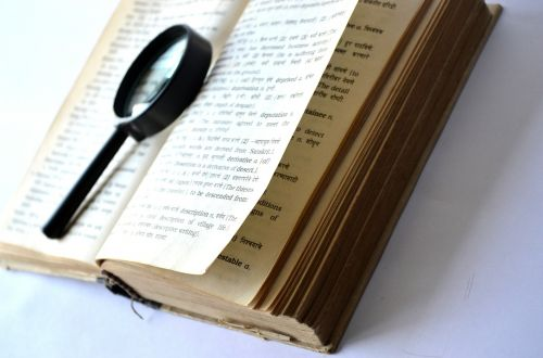 book magnifying glass loupe
