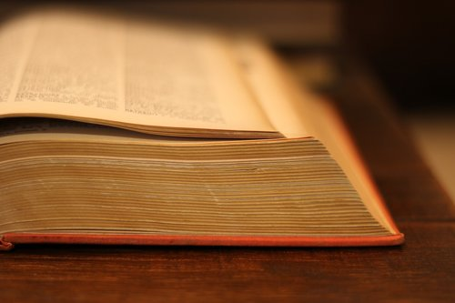 book  old  dictionary