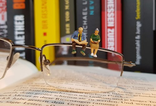 book  read  miniature figures