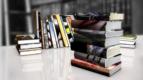 book stack  books  read