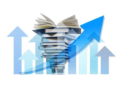 book stack  books  arrows