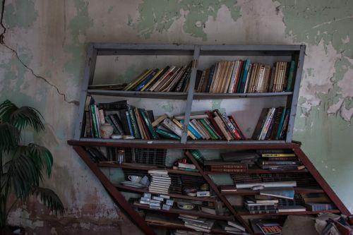 bookcase book shelf old
