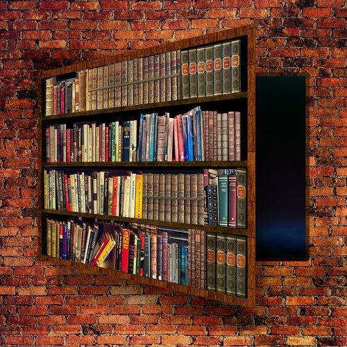 bookcase  secret  passage