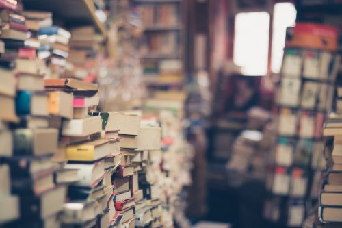 books stack book store