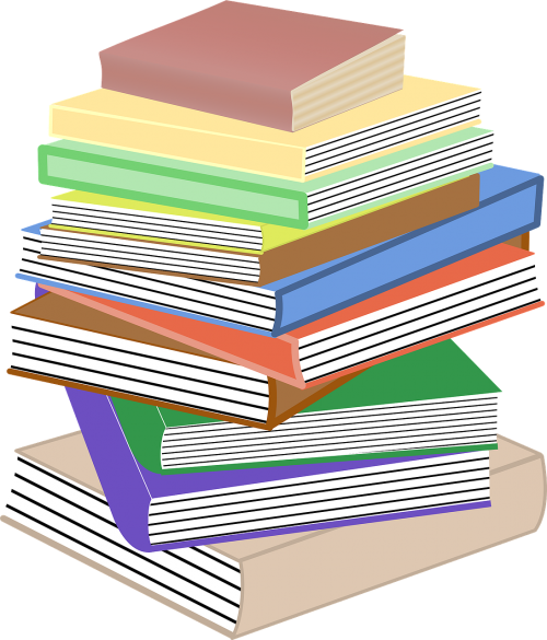 books stacked pile