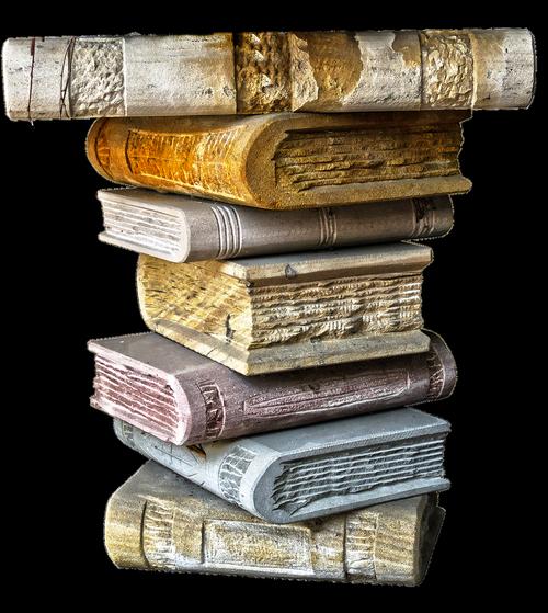 books  book stack  ceramic