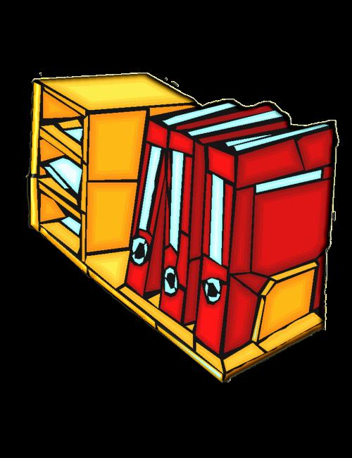 books bookcase file
