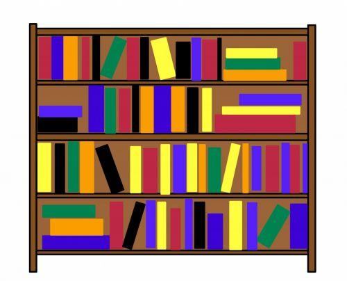 Bookshelf Clip Art