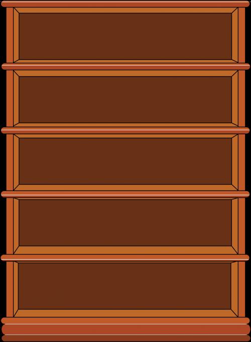 bookshelf empty design