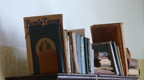 bookshelf books old