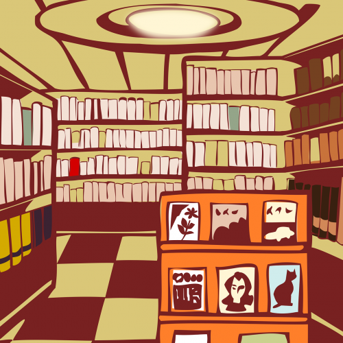 bookstore library reading