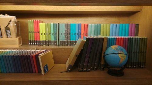 bookstore color globe