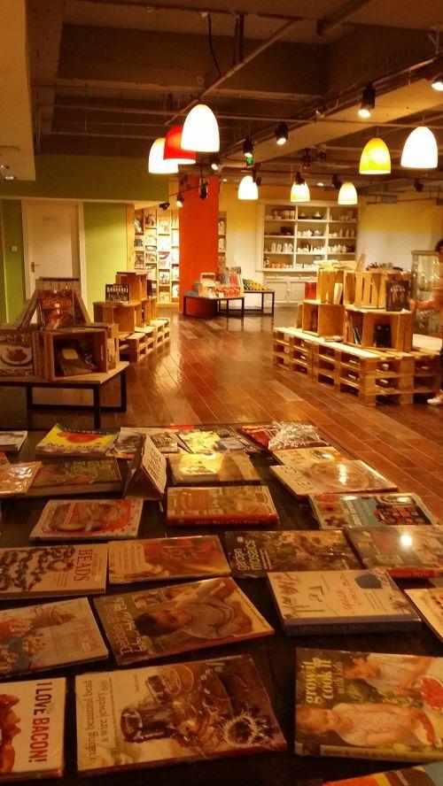 bookstore indoor warm