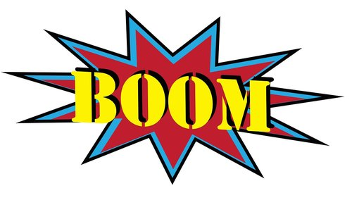 boom  sound effect  comic book style