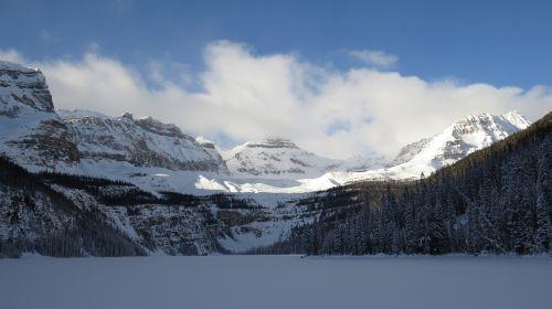 boom lake banff national park west canada