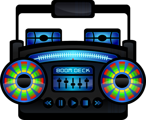 boombox boom box cassette recorder