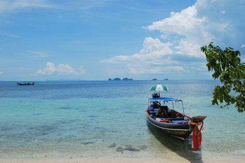 boot beach sea
