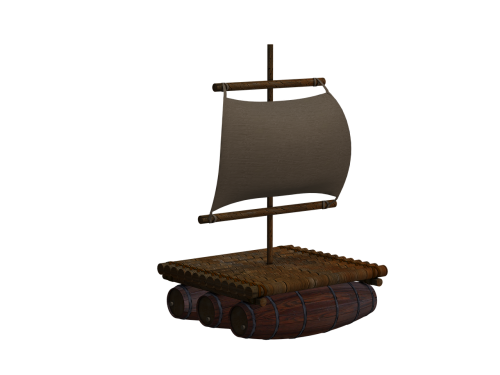 boot raft wood raft