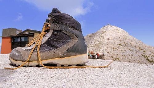 boot mountain top