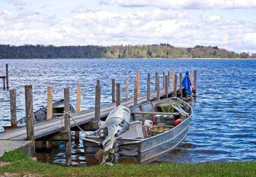 boot jetty fishing boat