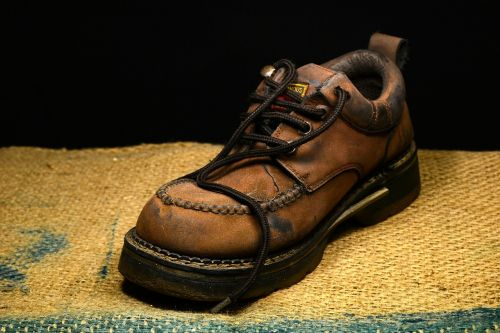 boot leather shoe