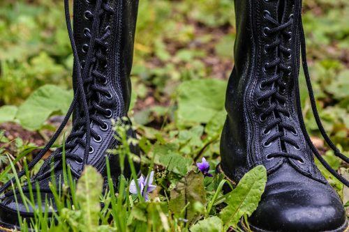 boot green grass