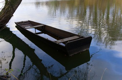 boot paddle boat old