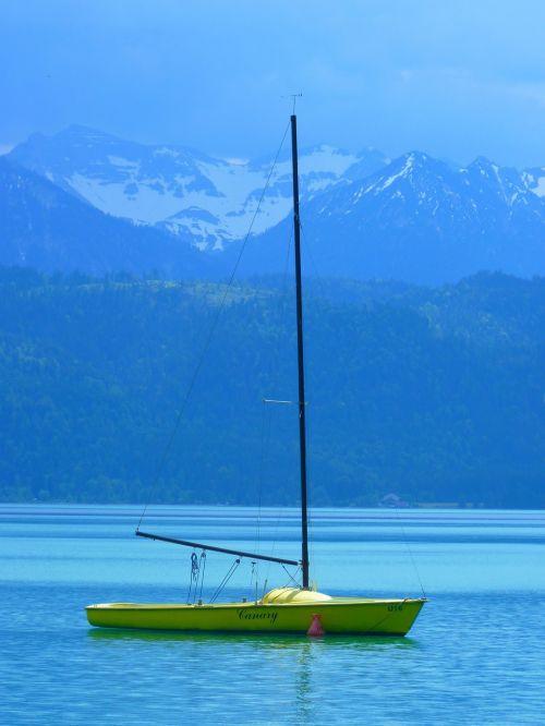 boot sailing boat lake