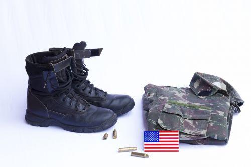 boots military uniform flag uses