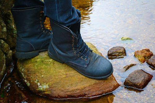 boots feet water