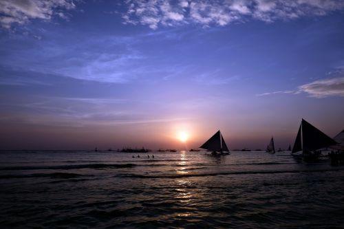 boracay glow sunset
