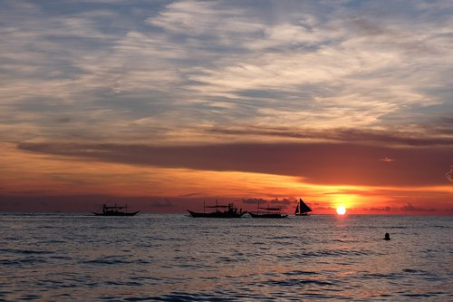 boracay  philippines  sunset