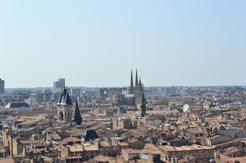 bordeaux city aerial view