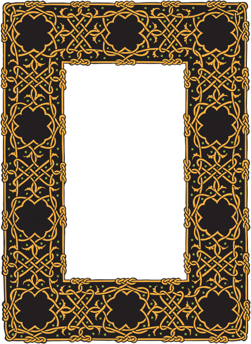 border celtic frame