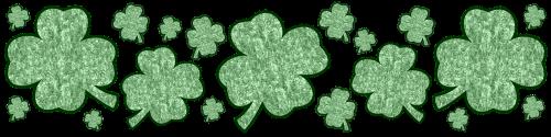 border shamrock clover