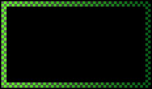 border green checkered