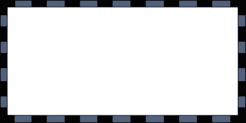 border rectangular blue