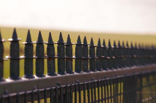 border  fence  spikes
