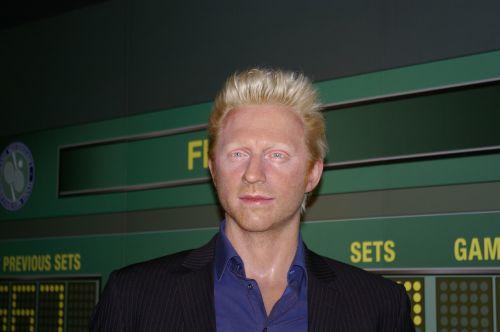 boris becker tennis player wax figure