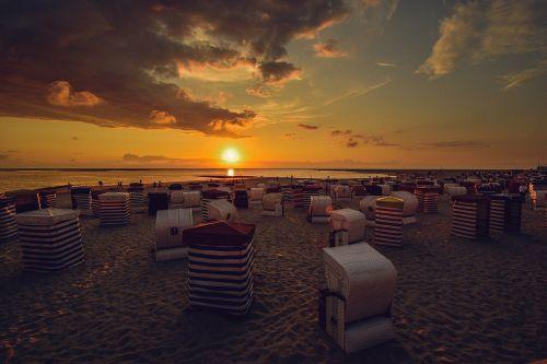 borkum sunset beach chair