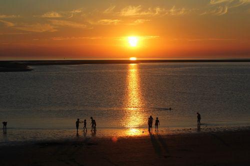 borkum abendstimmung sunset