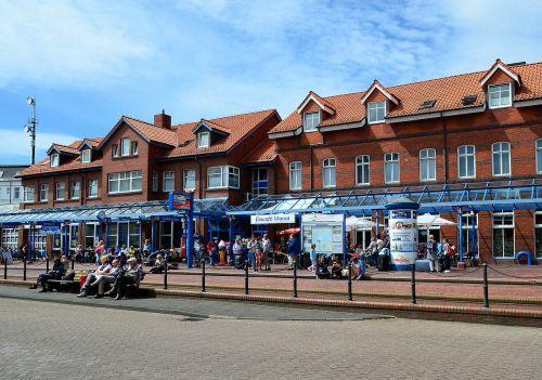 borkum railway station island railway
