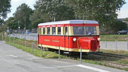 borkumer kleinbahn  narrow gauge  historic railcar