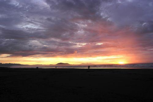 born sun clouds landscape