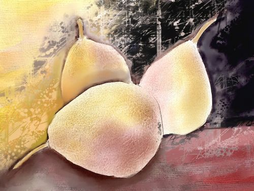 bosc pear digital oils fruit